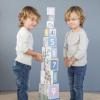 Afbeelding van Little Dutch Kartonnen Stapelblokken Dierentuin en Cijfers - 10 delig