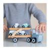 Afbeelding van Little Dutch Houten Transportwagen Pastel Blauw