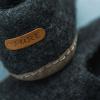 Afbeelding van Pure Wool Fair Trade Vilten Pantoffel VSL03 Antraciet