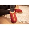Afbeelding van Pure Wool Gebreide Homesok Sherpa Gevoerd Maroon ONE SIZE