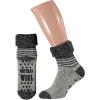 Afbeelding van Apollo Natural Wool Fashion Heren Huissokken Antislip - Grijs/Antraciet