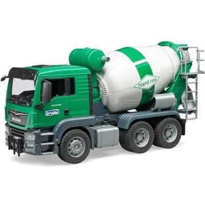 Foto van Bruder MAN TGS Cement Mixer Vrachtwagen 03710 - Schaal 1:16