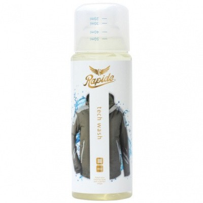 Foto van Rapide Tech Wash Wasmiddel 1055 Transparant voor hardshell en softshell kleding - 300 ml