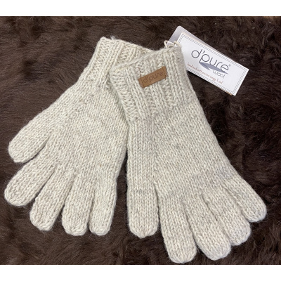 Foto van Pure Wool Fair Trade Gebreide Handschoen Ecru