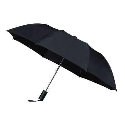 Impliva 2 delige Opvouwbare Paraplu GF512 Zwart