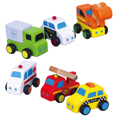 Foto van Viga Toys Autoset - 6 delig