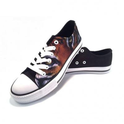 Celdes Dames Sneaker Dierenprint Zwart/Bruin
