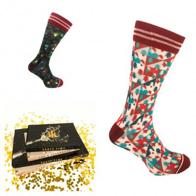 Foto van Sock My Feet Christmas Tree & Nordic Sokken (2 paar in Giftbox)