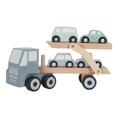 Little Dutch Houten Transportwagen Pastel Blauw