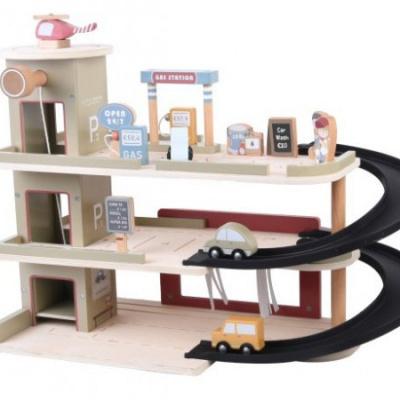 Little Dutch Houten Railway Garage
