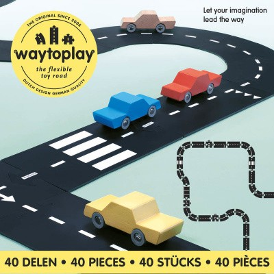 Foto van Waytoplay King of The Road - Flexibele Wegdelen Set 40 delig