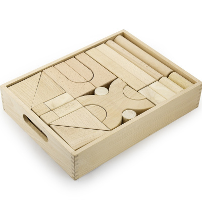 Viga Toys Jumbo Blokkenset in kist - 48 delig