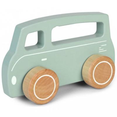 Little Dutch Houten Busje Mint Pastelkleur