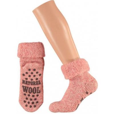 Apollo Natural Wool Fashion Kids Huissokken Antislip - Antiekroze