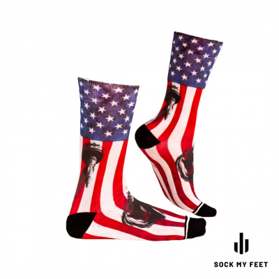 Sock My Feet Stars and Stripes Sokken