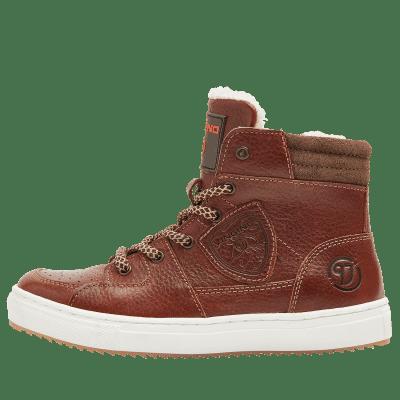 Vingino Sneaker Sil Mid Leder Teddy Gevoerd Cognac