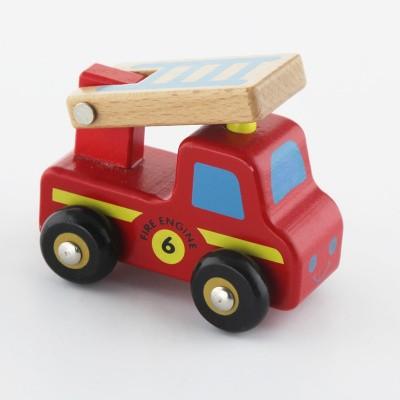 Viga Toys Houten Brandweerauto