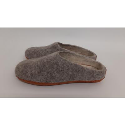 Pure Wool Fair Trade Vilten Pantoffel VSL02 Antraciet