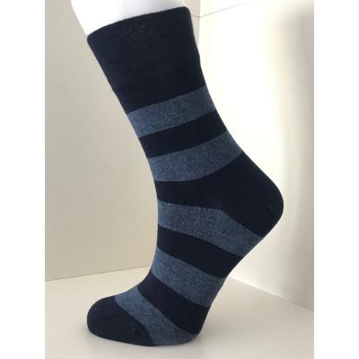 Boru Bamboo Stripe Sokken 2326 Donkerblauw/Lichtblauw