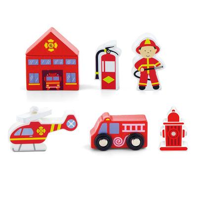 Viga Toys Brandweer Speelfigurenset - 7 delig