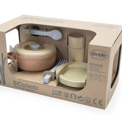 Dantoy BIOplastic Eetservies speelset 22 delig in luxe giftbox