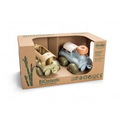 Dantoy BIOplastic Stoomtrein met Wagon in luxe giftbox