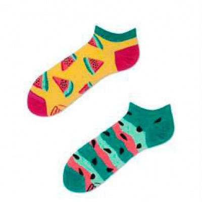 Many Mornings Watermelon Splash Mismatched Unisex Sneaker Sokken