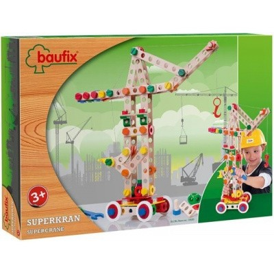 Foto van Baufix Super Kraan Bouwconstructie Set voor 3 verschillende modellen - 158 delig