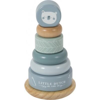 Little Dutch Houten Tuimelstapelaar Blauw/Groen pastel