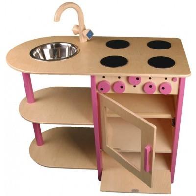 Combi Keukenblok Roze voor peuters en kleuters - Van Dijk Toys