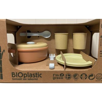 Dantoy BIOplastic Eetservies speelset - 11 DELIG in luxe giftbox