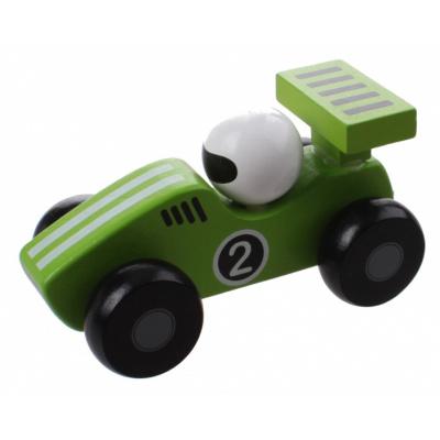 Jouéco Houten Raceauto 80070 Groen - 12,5 cm