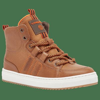 Vingino Sneaker Leder Mannix Mid Cognac