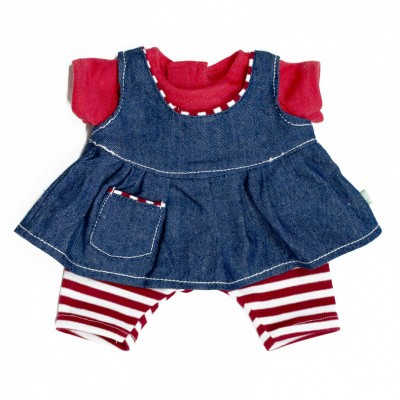 Rubens Barn Kids Poppenkleding Set Happy Bleu Girl