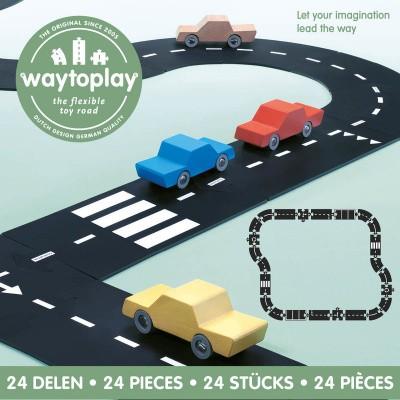 Foto van Waytoplay Snelweg, High Way - Flexibele Wegdelen Set 24 delig