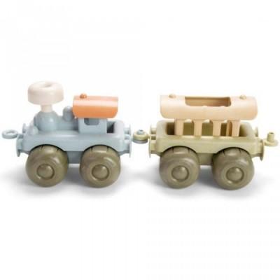 Dantoy BIOplastic Voertuigen Stoomtrein met Wagon