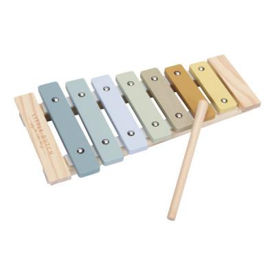 Little Dutch Houten Xylofoon Blauw/Geel incl. stokje LD7017