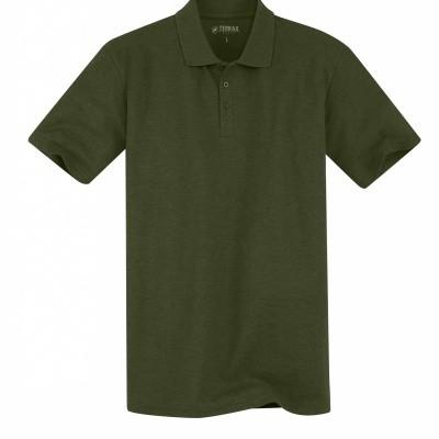 Terrax Heren Basic Poloshirt Olijfgroen