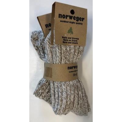 Norweger Outdoor-Hight Quality Wollen Sokken - BUNDEL VAN 2 PAAR!