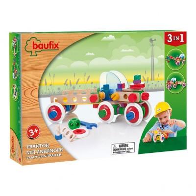 Baufix Tractor en Trailer Bouwconstructie Set 3-in-1 - 95 delig