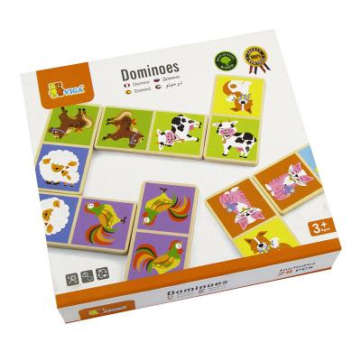 Viga Toys Domino Boerderijdieren Hout - 32 delig