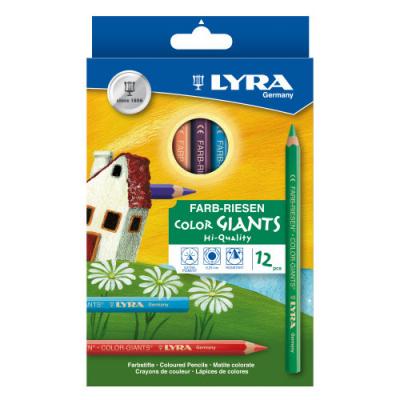 Foto van Lyra Color Giants Nature Potloden L3931120 - 12 stuks