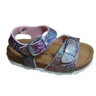 Lily Fashion Kinder Sandaaltje met lederen voetbed 83/M18 Roze (OP=OP!)