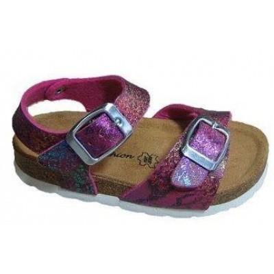 Foto van Lily Fashion Kinder Sandaaltje met lederen voetbed 83/M18 Fuchsia (OP=OP)