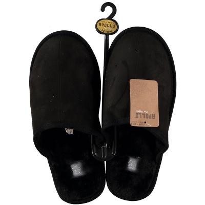 Apollo Dames Instap Pantoffel Deluxe Gevoerd Zwart