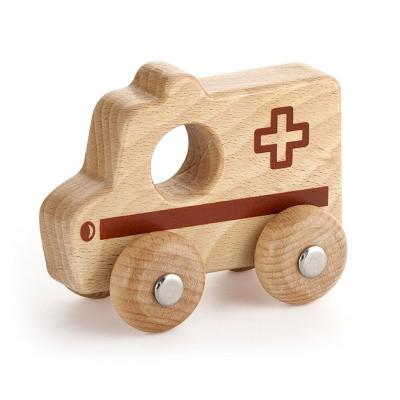 Viga Toys Houten Grijp-duw Ambulance
