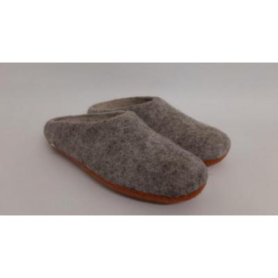 Pure Wool Fair Trade Vilt Pantoffel VSL02 Grijs