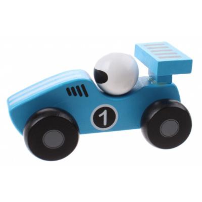 Jouéco Houten Raceauto 80070 Blauw - 12,5 cm