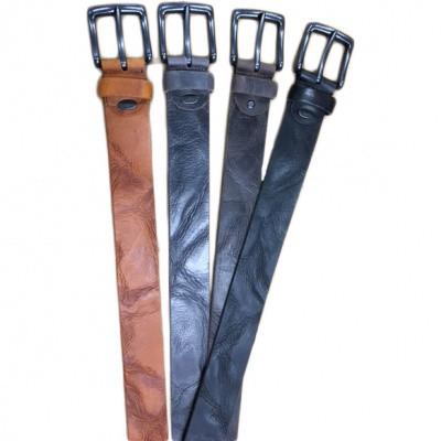 Timbelt Vegas Leder Jeans Riem 418 Cognac