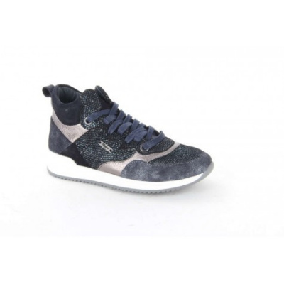 Vingino Sneaker Leder Elora Mid Blue Silver (OP=OP)